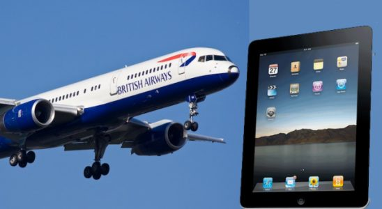 avion et iPad